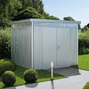 8' x 8' Biohort HighLine H4 Silver Metal Double Door Shed (2.52m x 2.52m)