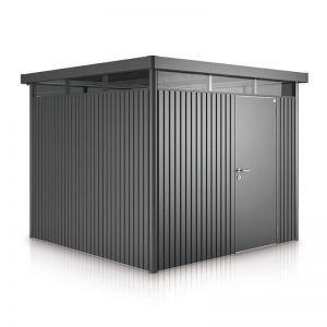 8' x 8' Biohort HighLine H4 Dark Grey Metal Shed (2.52m x 2.52m)
