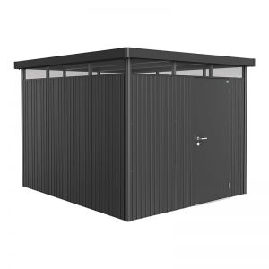 8' x 9' Biohort HighLine H5 Dark Grey Metal Shed (2.52m x 2.92m)