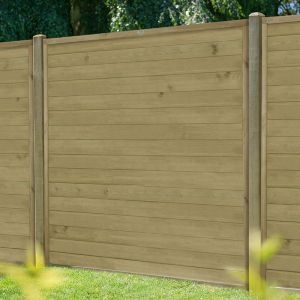 6ft (1.83m) High Forest Horizontal Tongue and Groove Fence Panel