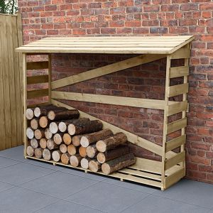 5'8 x 2' Forest Slatted Log Store (1.7m x 0.57m) - Large