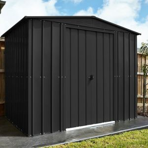 8' x 8' Lotus Anthracite Grey Apex Metal Shed