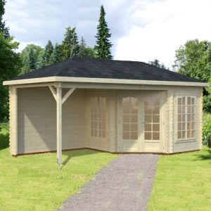 19'x10' (5.7x3m) Palmako Nancy 28mm Log Cabin