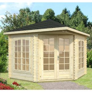 9'x9' (2.8 x 2.8m) Palmako Melanie 28mm Log Cabin