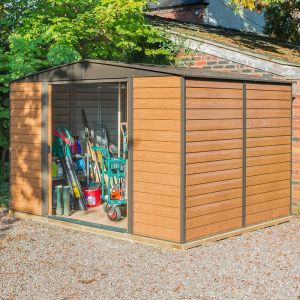 10' x 12' Rowlinson Woodvale Metal Apex Shed - Includes Floor & Installation (3.13m x 3.7m)