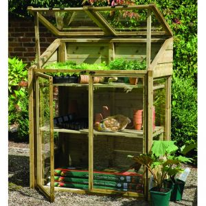 4' x 2' (1.20x0.62m) Wooden Mini Greenhouse by Grow-Plus