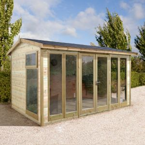 10'x8' (3x2.4m) Shed-Plus Champion Apex Garden Room - Fully Glazed