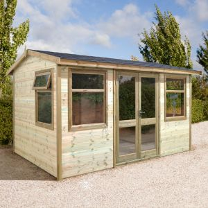 12'x8' (3.6x2.4m) Shed-Plus Champion Apex Garden Room - Half Glazed