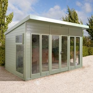14'x10' (4.2x3m) Shed-Plus Champion Pent Garden Room - Fully Glazed