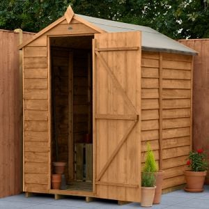 6' x 4' Forest Overlap Dip Treated Windowless Apex Wooden Shed