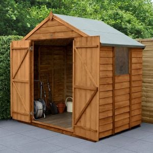 7' x 5' Forest Overlap Dip Treated Double Door Apex Wooden Shed