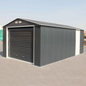12'x26' (3.6x7.8m) Olympian Anthracite Metal Garage