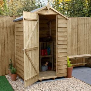 4' x 3' Forest Overlap Pressure Treated Windowless Apex Wooden Shed