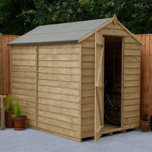 7' x 5' Forest Overlap Pressure Treated Windowless Apex Wooden Shed