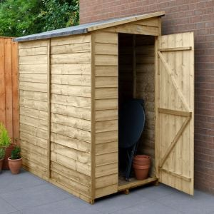 6' x 3' Forest Overlap Pressure Treated Windowless Pent Wooden Shed