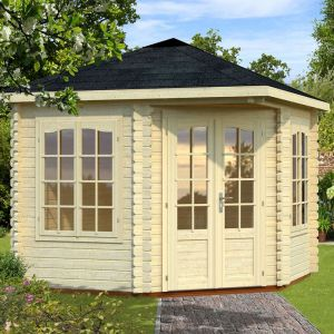 9'x9' (2.8x2.8m) Palmako Melanie 44mm Log Cabin