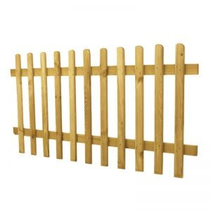 3ft High Rounded Pale Picket Fence Panel
