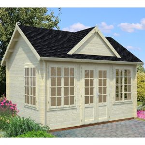 Palmako Claudia 3.9m x 3m Log Cabin Summer House (34mm)
