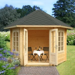 10'x10' (3 x 3.4m) Palmako Hanna 34mm Log Cabin