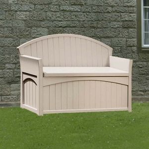 4'5 x 1'9 (1.34x0.53m) Suncast Resin Patio Storage Bench - Plastic Garden Storage