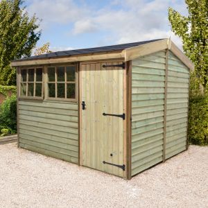 8'x6' (2.4x1.8m) Shed-Plus Champion Barnstyle Shed - Standard Door