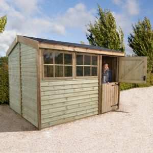 10'x6' (3x1.8m) Shed-Plus Champion Barnstyle Workshop - Stable Door
