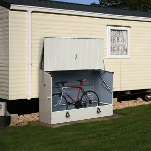 6'x3' (1.8x0.9m) Trimetals Cream 'Protect.a.Cycle' Secure Garden Storage