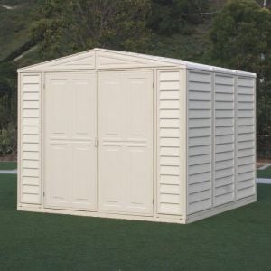 8' x 8' Saffron Plastic Vinyl Apex Shed (Includes Foundation Kit and Skylight) (2.39m x 2.39m)