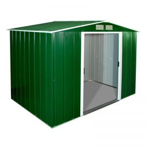 8'x6' (2.4x1.8m) Store More Sapphire Apex Green Metal Shed
