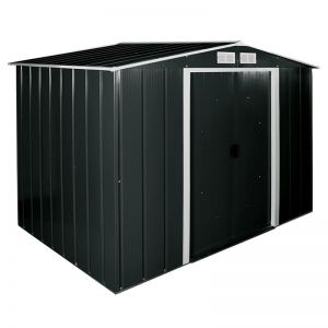 8'x8' (2.4x2.4m) Store More Sapphire Apex Anthracite Metal Shed