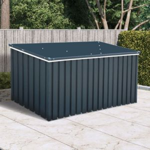 6' x 2' Sapphire Anthracite Metal Garden Cushion Storage Box (1.68m x 0.68m)