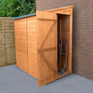 6' x 3' Forest Delamere Shiplap Dip Treated Pent Wooden Shed