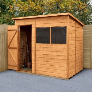 7' x 5' Forest Delamere Shiplap Dip Treated Pent Wooden Shed