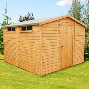 10' x 10' Shire Premium Security Apex Wooden Garden Shed (2.99m x 2.99m)