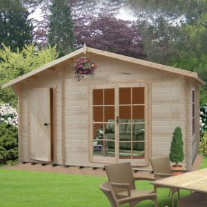 Shire Chaumont 4.2m x 5m Log Cabin Summerhouse