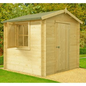 Shire Camelot 2.1m x 2.1m Log Cabin