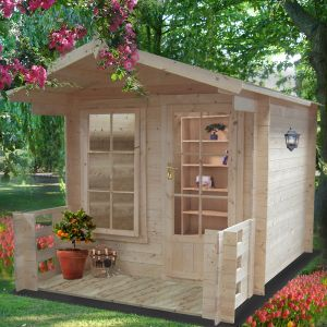 Shire Maulden 2.4m x 3.2m Log Cabin Summerhouse