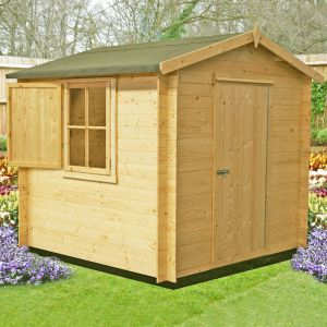Shire Camelot 8x8 Log Cabin Summerhouse