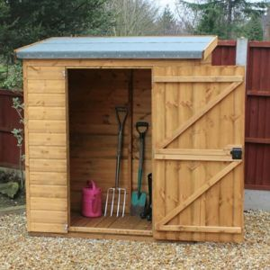 8' x 3' (2.44x0.91m) Traditional Pent Tool Store Shed