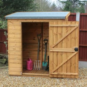 5' x 3' (1.52x0.91m) Traditional Pent Tool Store Shed