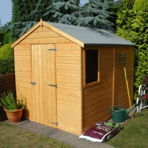 8' x 6' Shire Apex Durham Single Door Shed (2.38x1.79m)