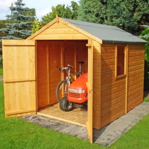 7'10 x 5'10 Shire Apex Warwick Double Door Shed  (2.38x1.79m)