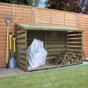 6' x 3' Windsor Wooden Double Log Store