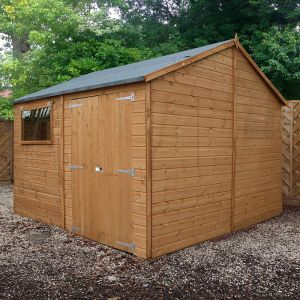 10' x 10' Windsor Reverse Apex Shiplap Wooden Workshop Shed