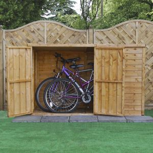 3x6 Windsor Overlap Wooden Pent Bike/ Garden Storage