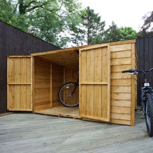 4x6 Windsor Overlap Wooden Pent Bike/ Garden Storage
