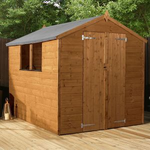 8' x 6' Windsor Double Door Shiplap Wooden Garden Shed