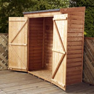 5'10 x 2'7 Windsor Overlap Premium Tall Wooden Garden Storage