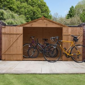 6'7 x 2'8 Windsor Wooden Bike and Garden Storage Shed