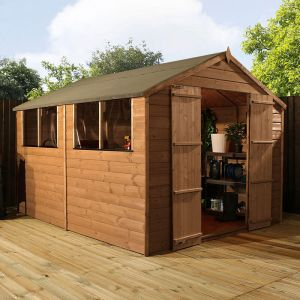 10' x 8' Windsor Double Door Shiplap Wooden Garden Shed